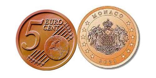 5 Eurocent Monaco Steel/Copper