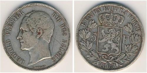 5 Franc Belgique Argent Léopold Ier de Belgique (1790-1865)