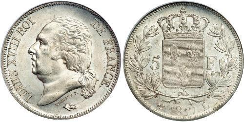 5 Franc Kingdom of France (1815-1830) Argento