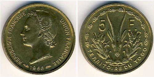 5 Franc Togo Bronze