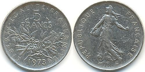 5 Franc Fünfte Französische Republik (1958 - ) Kupfer/Nickel