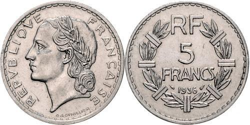 5 Franc French Third Republic (1870-1940)  Nickel