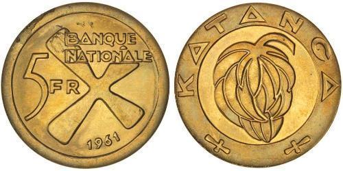 5 Franc Katanga Oro