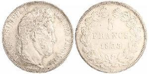 5 Franc France / July Monarchy (1830-1848) Silver Louis Philippe I of France (1773 -1850)
