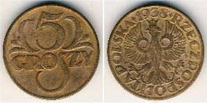 5 Grosh Second Polish Republic (1918 - 1939) Copper