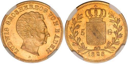 5 Gulden Grand Duchy of Baden (1806-1918) Gold