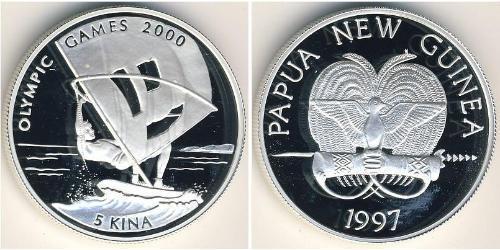 5 Kina Папуа — Новая Гвинея Серебро