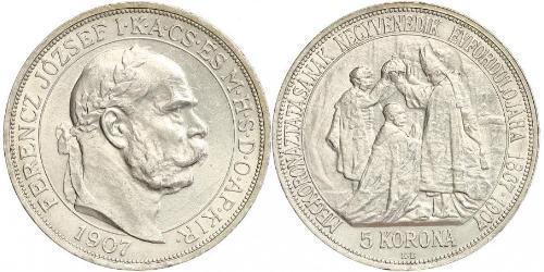 5 Korona Austria-Hungary (1867-1918) Silver Franz Joseph I (1830 - 1916)