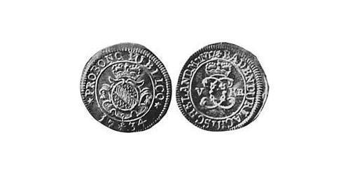 5 Kreuzer Margrave of Baden-Durlach (1535 - 1771) Silver