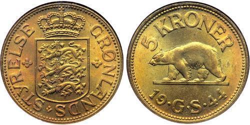 5 Krone Greenland Brass