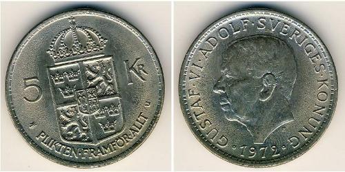 5 Krone Suède Cuivre/Nickel