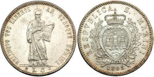 5 Lira Saint-Marin Argent