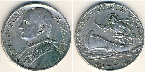 5 Lira Vatican (1926-) Oro Pope Pius XI (1857 - 1939)