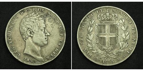 5 Lira Italia Plata