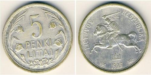 5 Litas Lituania (1991 - ) Plata