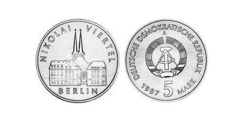 5 Mark German Democratic Republic (1949-1990) Copper/Zinc/Nickel