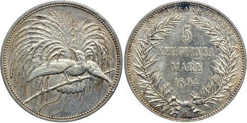 5 Mark Neuguinea Silber
