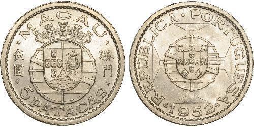 5 Pataca Portogallo / Macao (1862 - 1999) Argento