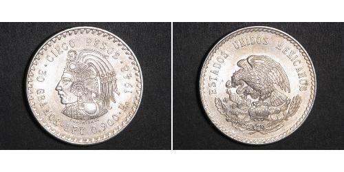 5 Peso Messico Argento