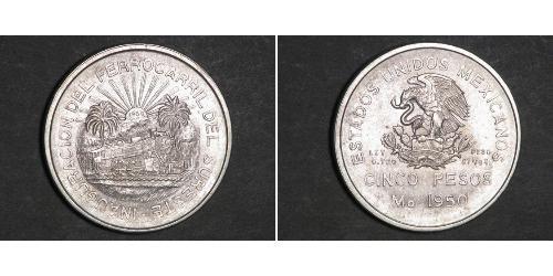 5 Peso Mexiko Silber