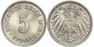 5 Pfennig 德意志帝國 (1871 - 1918) 銅/镍