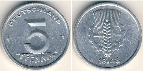 5 Pfennig German Democratic Republic (1949-1990) Aluminium