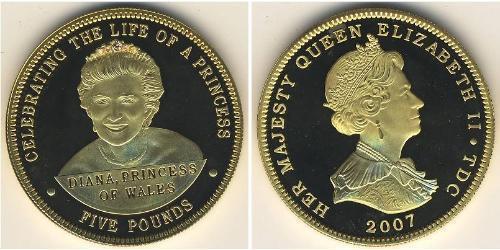 5 Pound Tristan da Cunha Silver Elizabeth II (1926-)