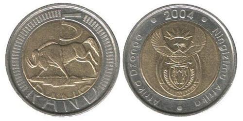 5 Rand South Africa Bimetal