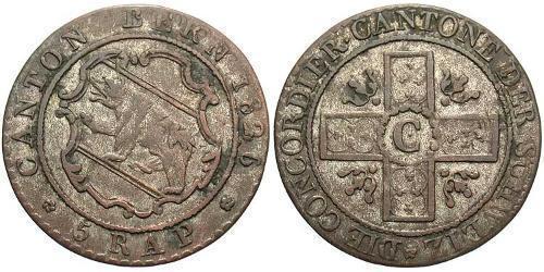 5 Rappen Switzerland Silver