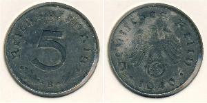 5 Reichpfennig Nazi Germany (1933-1945) Zinc