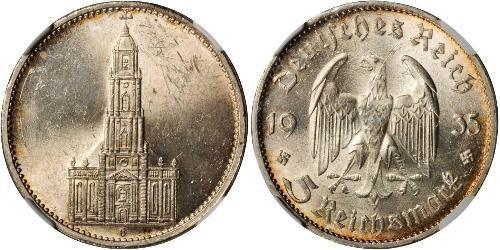 5 Reichsmark Третий рейх (1933-1945) Серебро