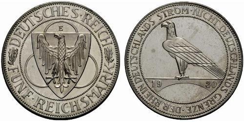 5 Reichsmark Веймарська республіка (1918-1933)