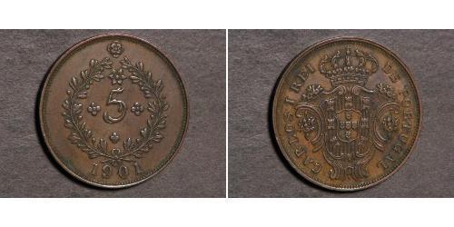5 Reis Azores / Reino de Portugal (1139-1910) Cobre