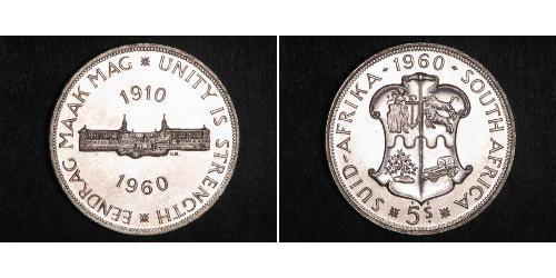 5 Shilling Afrique du Sud Argent