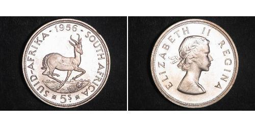 5 Shilling Sudafrica Argento Elisabetta II (1926-)