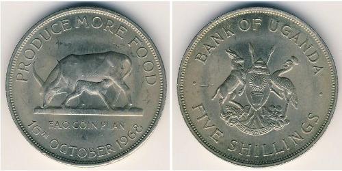 5 Shilling Uganda Copper/Nickel