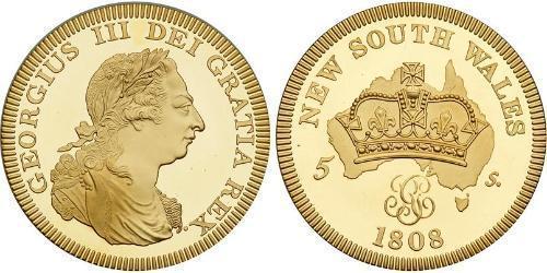 5 Shilling Australia (1788 - 1939) Gold George III (1738-1820)