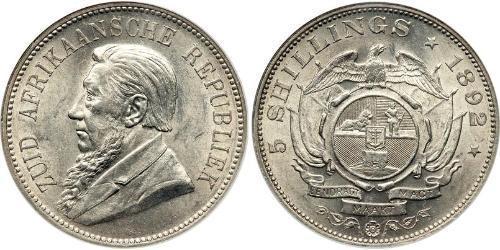5 Shilling Sudáfrica Plata Paul Kruger (1825 - 1904)