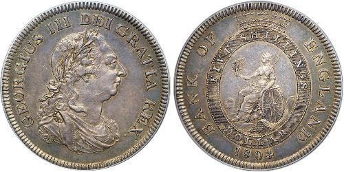 5 Shilling / 1 Dólar Imperio británico (1497 - 1949) / Reino Unido de Gran Bretaña e Irlanda (1801-1922) Plata Jorge III (1738-1820)