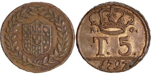 5 Tornesi Italian city-states Copper