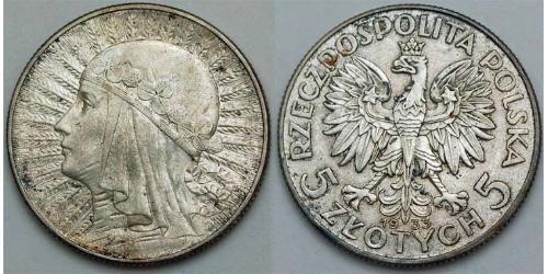 5 Zloty Zweite Polnische Republik (1918 - 1939) Silber
