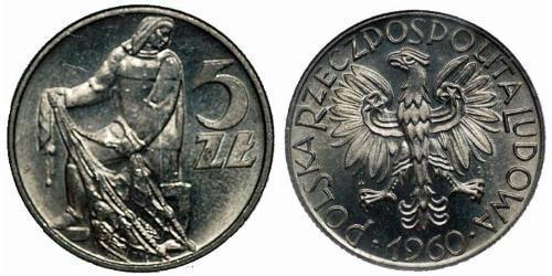 5 Zloty République populaire de Pologne (1952-1990)