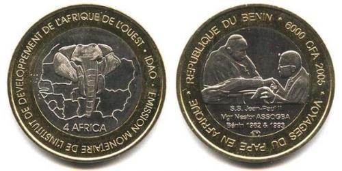 6000 Франк Бенин Биметалл