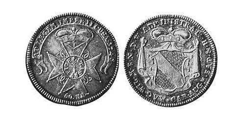 60 Kreuzer Margrave of Baden-Durlach (1535 - 1771) Silver