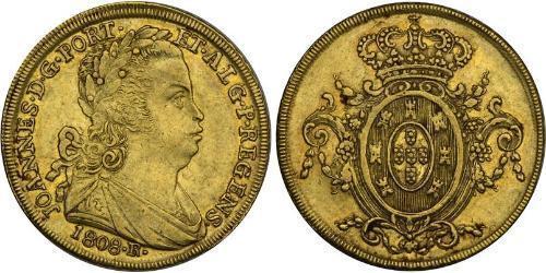 6400 Reis Brazil Gold John VI of Portugal (1767-1826)