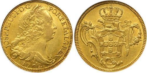 6400 Reis Brazil Gold Joseph I of Portugal (1714-1777)