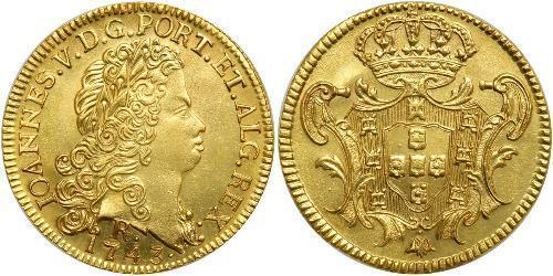 6400 Reis Brésil Or Jean V de Portugal (1689-1750)