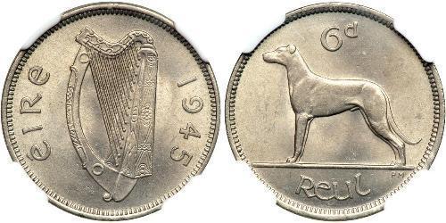6 Пені Ірландія (1922 - ) Нікель/Мідь