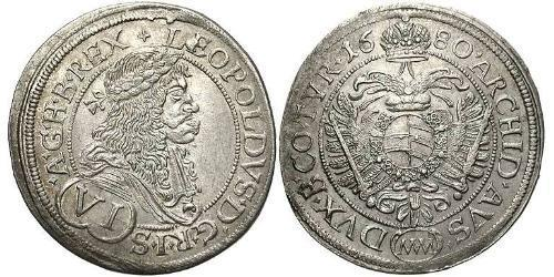 6 Kreuzer Austria  Silver