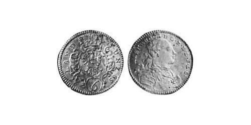 6 Kreuzer Principality of Ansbach (1398–1792) Silver Charles Alexander, Margrave of Brandenburg-Ansbach (1736 – 1806)